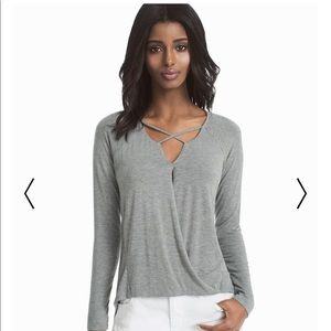 NWT WHBM Criss Cross Front Top.